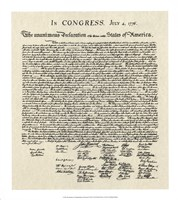 Declaration of Independence Doc. Fine Art Print