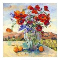 "Floral Kaleidoscope II by Nanette Oleson - 20"" x 20"""