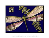 """Mini Shimmering Dragonfly II by Vision Studio - 9"""" x 7"""""""