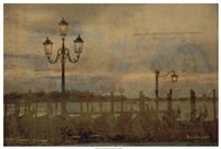 "Dawn & the Gondolas I by Terry Lawrence - 37"" x 25"""