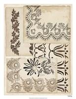 Lace Sketchbook II Framed Print