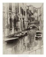 "Six Boats Sepia by Danny Head - 18"" x 22"""