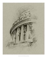 """Charcoal Architectural Study I by Ethan Harper - 18"""" x 22"""""""