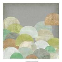 """Scalloped Landscape I by Jennifer Goldberger - 20"""" x 20"""""""