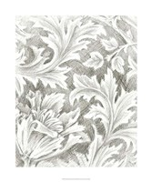 """Floral Pattern Sketch II by Ethan Harper - 20"""" x 24"""", FulcrumGallery.com brand"""