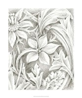 "Floral Pattern Sketch III by Ethan Harper - 20"" x 24"""