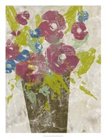 Bouquet Collage I Framed Print