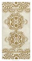 "Ochre Embroidery II by Chariklia Zarris - 17"" x 32"""