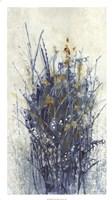 Indigo Floral I Framed Print