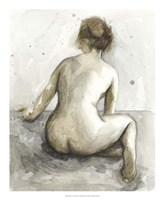 "Figure in Watercolor I by Megan Meagher - 18"" x 22"""