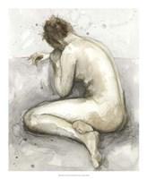 Figure in Watercolor II Framed Print