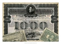 """Antique Stock Certificate II by Vision Studio - 25"""" x 18"""""""