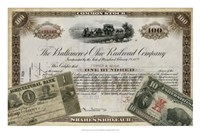 """Antique Stock Certificate III by Vision Studio - 27"""" x 18"""""""