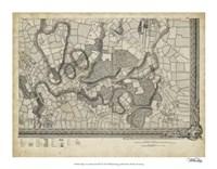 "Map of London Grid XVI - 18"" x 14"""