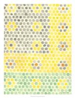 Floral Linoleum I Framed Print