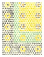 Floral Linoleum II Framed Print