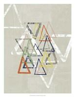 Stamped Triangles I Framed Print