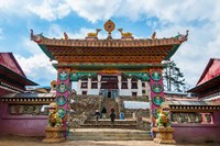 Entrance to Tengboche Monastery, Nepal. Fine Art Print