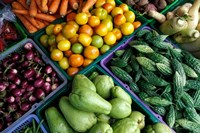 Asia, Singapore. Fresh produce for sale at street market by Todd Gipstein - various sizes - $24.99