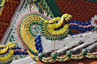 Decorative dragon, Wat Pho, Bangkok, Thailand Fine Art Print