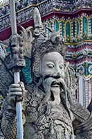 Head of Farang Guard, Wat Pho, Bangkok, Thailand. by Adam Jones - various sizes