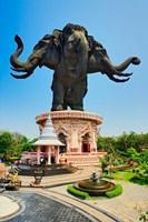 Giant three headed elephant, the Erawan Museum in Samut Prakan, Bangkok, Thailand by Adam Jones - various sizes