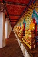 Line of Buddhas, Wat Arun, Bangkok, Thailand by Adam Jones - various sizes