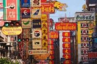 Signs in Chinatown, Bangkok, Thailand by Adam Jones - various sizes