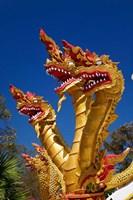 Trio of dragon heads, Wat Phra That Doi Suthep Rajvoravihara, Chiang Mai, Thailand by Adam Jones - various sizes