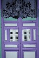 Maldives, colorful school door. Fine Art Print