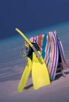 Indian Ocean, Maldive islands, Snorkel gear Fine Art Print