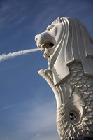 Singapore. Merlion statue in the Merlion Park Fine Art Print