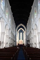Singapore. The interior view of St. Andrew's Cathedral Fine Art Print