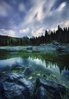 Karersee Lake and Dolomite Alps in the morning, Northern Italy by Evgeny Kuklev - various sizes - $46.99