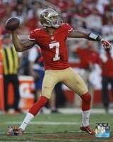 Colin Kaepernick 2014 Throw Fine Art Print