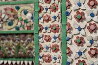 Bell Tower porcelain patterns, Grand Palace, Bangkok, Thailand Fine Art Print