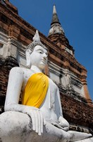 Close up of Buddha statue, Ayutthaya, Thailand by Cindy Miller Hopkins - various sizes, FulcrumGallery.com brand