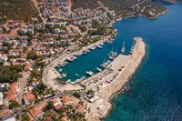 Kas Harbor, Aerial, Antalya, Turkey Fine Art Print