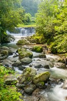 Waterfall and River, Rize, Black Sea Region of Turkey Fine Art Print
