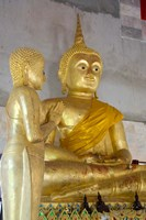 Golden Buddha statue at Khunaram Temple, Island of Ko Samui, Thailand by Cindy Miller Hopkins - various sizes - $32.49