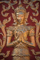 Gold Leafed Deatil at Wat Doi Suthep, Chiang Mai, Thailand Fine Art Print