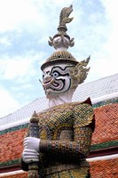 Close-up of Statue at Emerald Palace in Grand Palace, Bangkok, Thailand by Bill Bachmann - various sizes