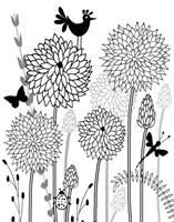 All-A-Flutter BW I Fine Art Print