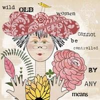 Wild Old Woman II Fine Art Print