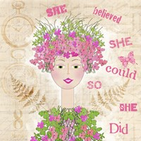 She Believed by Jill Meyer - various sizes, FulcrumGallery.com brand