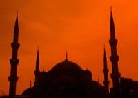 Blue Mosque at Sunset, Istanbul, Turkey by Bill Bachmann - various sizes