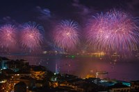Fireworks over the Bosphorus, Istanbul, Turkey by Ali Kabas - various sizes, FulcrumGallery.com brand