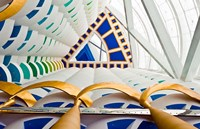 Abstract of pillars at Burj Al Arab, Dubai, United Arab Emirates by Bill Bachmann - various sizes
