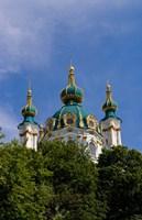 Beautiful Dome Church, Klovskiy Spusk Downtown, Kiev, Ukraine by Bill Bachmann - various sizes