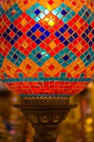 Stained Glass Lamp Vendor in Spice Market, Istanbul, Turkey by Darrell Gulin - various sizes, FulcrumGallery.com brand